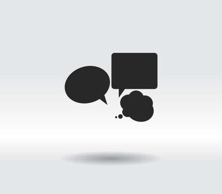 Speech bubbles icon, vector illustration. Flat design style 일러스트