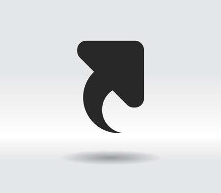 up arrow icon, vector illustration. Flat design style