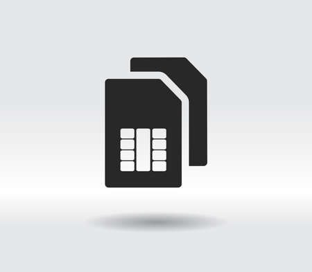 sim card- Vector icon. Flat design style
