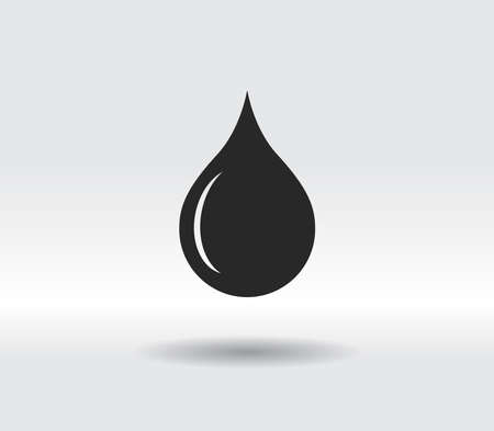 drop icon, vector illustration. Flat design style 일러스트