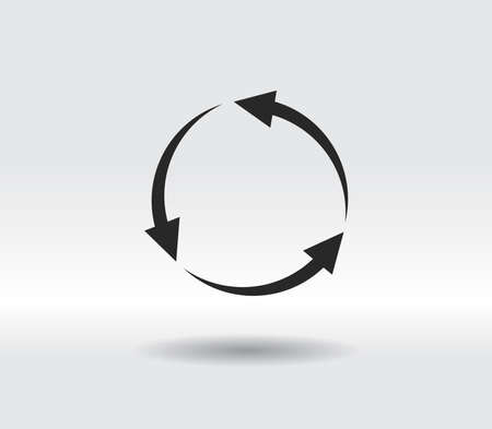 circular arrows icon, vector illustration. Flat design style 일러스트