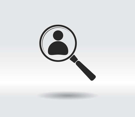 Looking For An Employee Search icon, vector illustration. Flat design style 일러스트