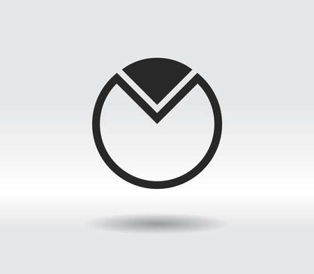 chart icon, vector illustration. Flat design style