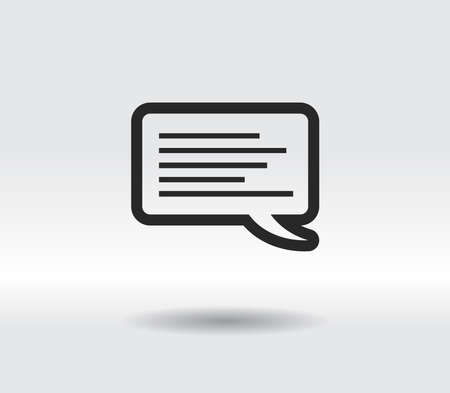 Icon of dialog, vector illustration. Flat design style