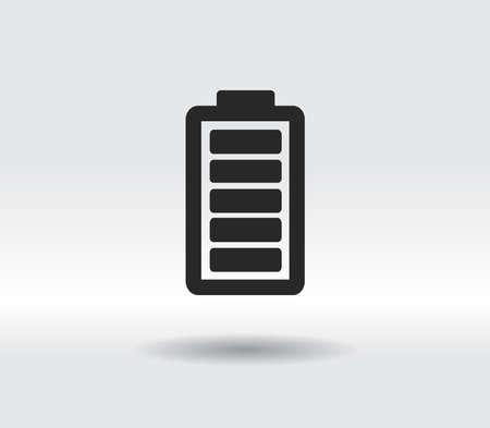 Battery load icon, vector illustration. Flat design style