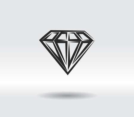 Diamond icon, vector illustration. Flat design style 일러스트