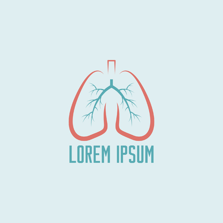 human lung: Lungs isolated vector icon template