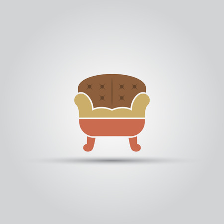 Sofa isolated vector colored icon on a white background.