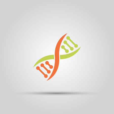 dna isolated vector colored icon