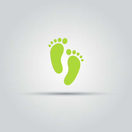 Footprint isolated vector colored icon Illustration
