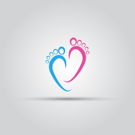 Footprint isolated vector abstract logo of lines