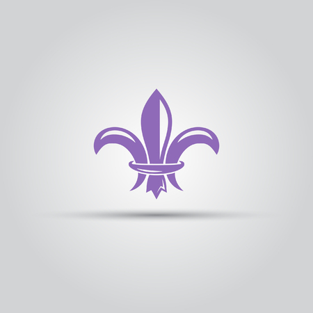 Fleur-de-lis isolated vector colored icon
