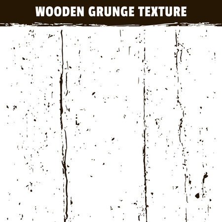 Wooden grunge black texture isolated on white background. Vertical grungy scratches and cracks effect Illustration