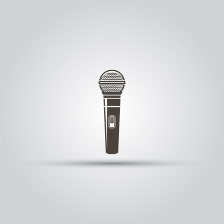 Microphone vector black icon on isolated background