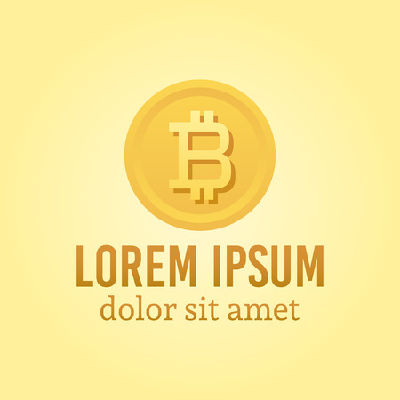 Cryptography currency vector logo template with sample text