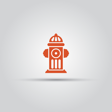 Red fire hydrant isolated vector colored icon or sign