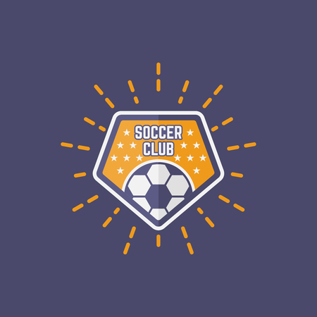 Soccer sport team isolated vector emblem, football emblem design for printing on t-shirt part 10