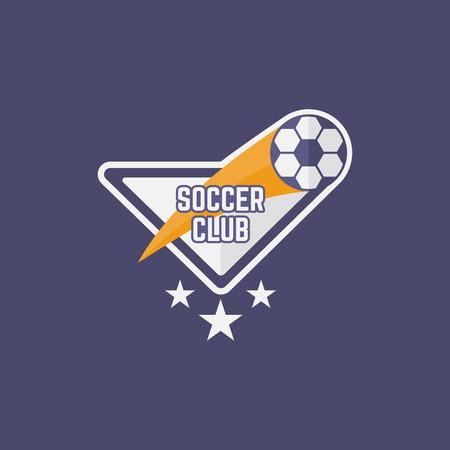 Soccer sport team isolated vector emblem, football emblem design for printing on t-shirt part 11