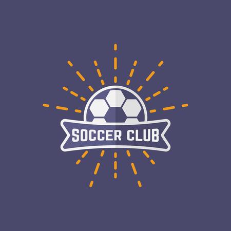 Soccer sport team isolated vector emblem, football emblem design for printing on t-shirt part 3