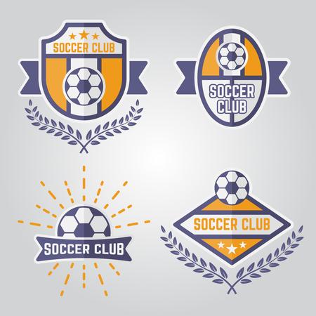 Set of soccer isolated vector emblems, football sport team logos part 2