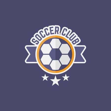 Soccer sport team isolated vector emblem, football emblem design for printing on t-shirt part 12