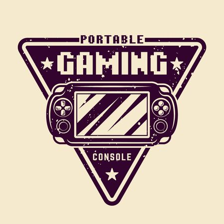 Portable gaming console vector badge, emblem or logo isolated illustration Ilustrace