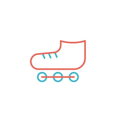 roller skate icon vector illustration line color design. isolated on white background