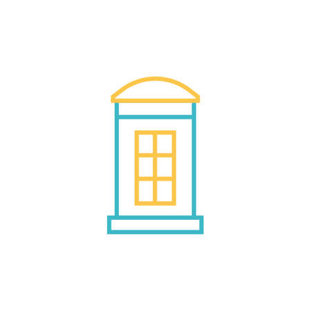 phone booth icon vector illustration line style design