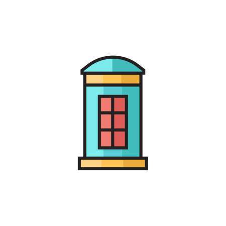 phone booth icon vector illustration filled outline design Vectores