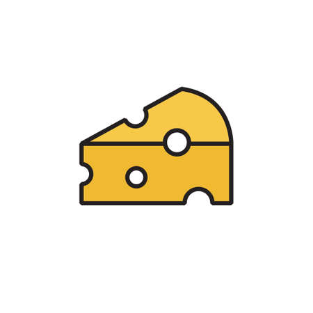 cheese icon vector illustration filled outline design