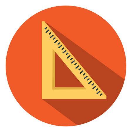 math icon: math triangle ruler  icon Illustration