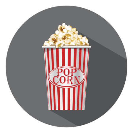 eating popcorn: popcorn icon Illustration