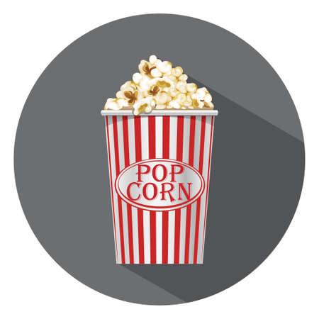 popcorn icon Stock Illustratie