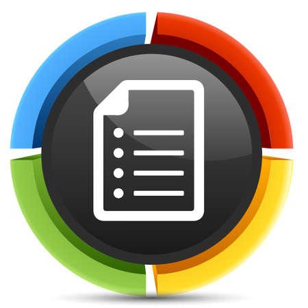 document file: Document file list icon