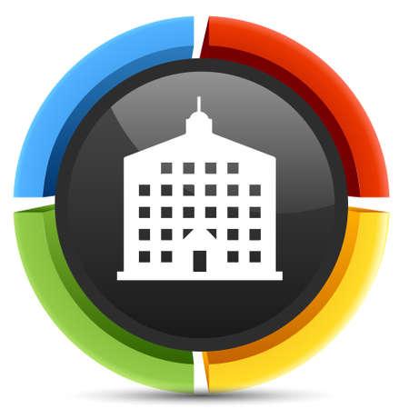 company: company building icon Illustration