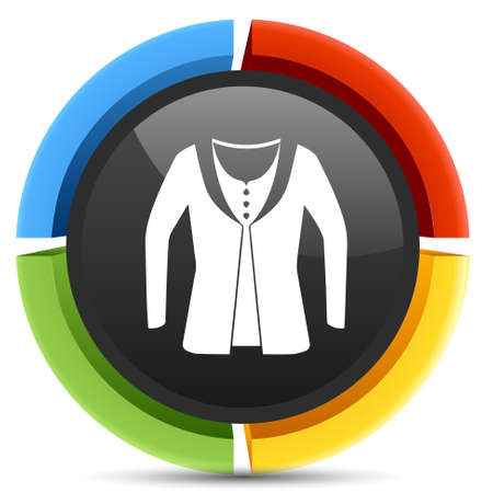 vest in isolated: jacket icon