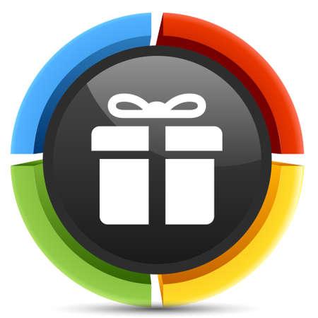 present box: present box icon Illustration