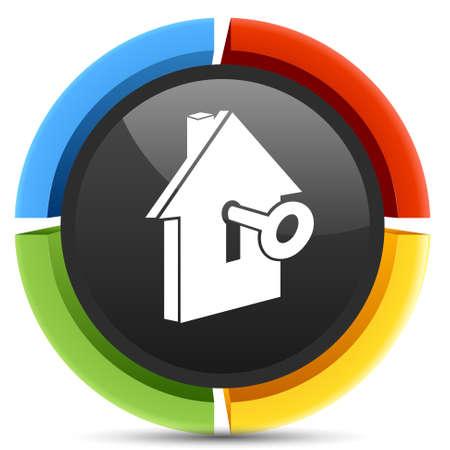 house key button Illustration