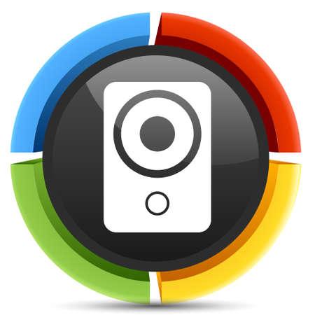 speakers: stereo speakers icon Illustration