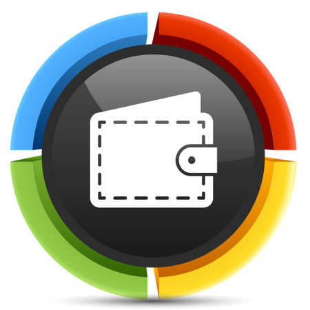 wallet: wallet button Illustration