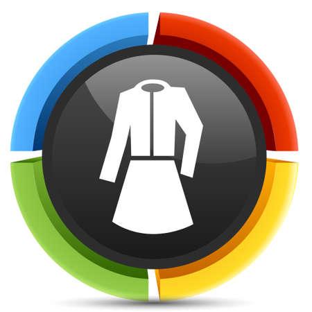 formal wear: formal women wear icon Illustration