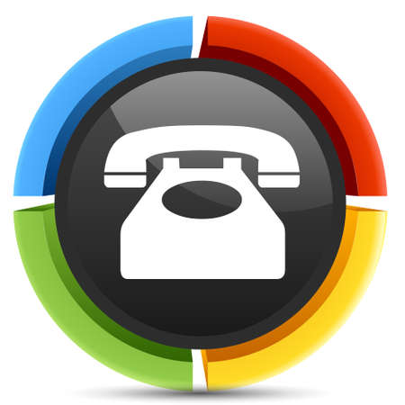 old telephone: old telephone button icon