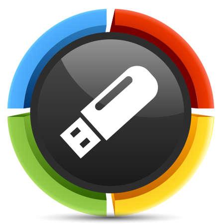 pendrive: pendrive icon