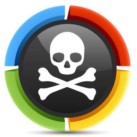 skull icon: danger skull icon