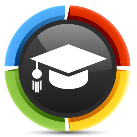 master degree: graduation icon Illustration