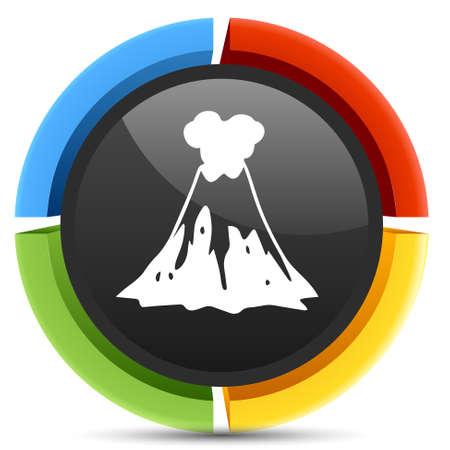 erupt: volcano   icon