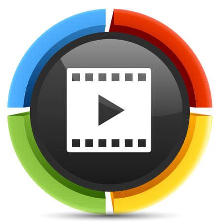 clip play  icon Vector