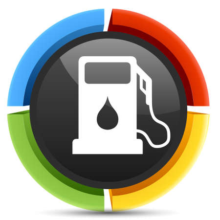 gas icon: Icona gas Vettoriali
