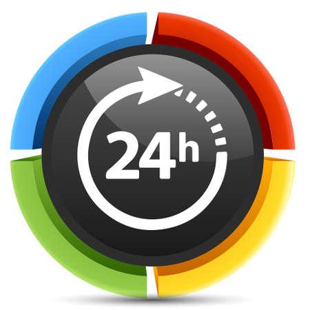 24: 24 service icon