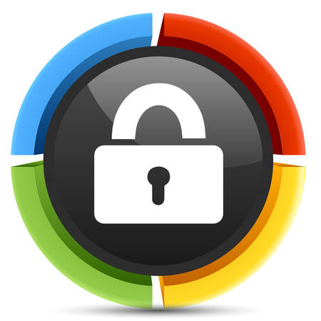 safe lock: safe lock  icon Illustration